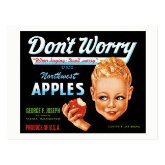 Northwest Apples Vintage Label Restored Postcard