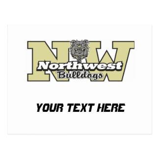 Northwest Bulldogs 7-9 Black Postcard