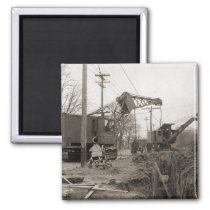 Northwest crane early clamshell photo vintage magnet
