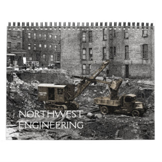 NORTHWEST ENGINEERING CRANE OPERATOR CABLE SHOVELS CALENDAR