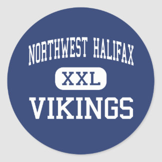 Northwest Halifax - Vikings - High - Littleton Classic Round Sticker