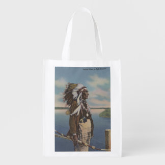 Northwest Indian Chief in Full Regalia Market Tote