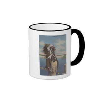Northwest Indian Chief in Full Regalia Ringer Mug