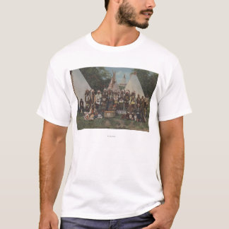 Northwest Indians at a Pow Wow before War T-Shirt