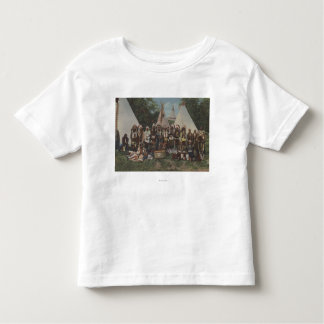 Northwest Indians at a Pow Wow before War Toddler T-shirt