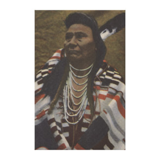 Northwest Indians - Chief Joseph of the Nez Stretched Canvas Print