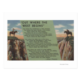 "Northwest Indians ""Out Where the West Begins"" Postcard"