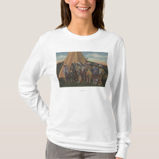 Northwest Indians - Row of Indian Chiefs in War T-Shirt