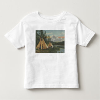 Northwest Indians - Two Teepees Near Mountain T Shirt