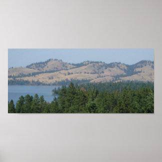 Northwest Montana Flathead Lake Poster