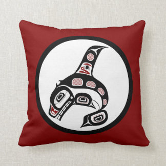 Northwest Pacific coast Haida art Killer whale Pillow