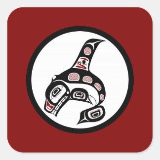 Northwest Pacific coast Haida art Killer whale Square Sticker