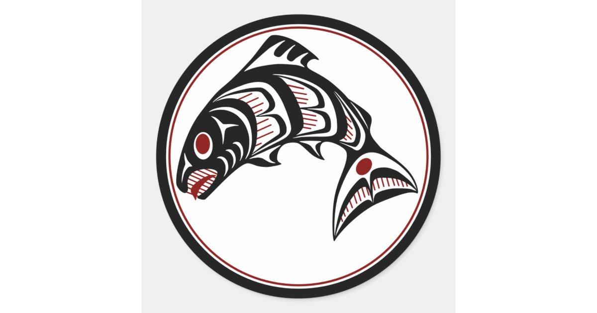 Northwest pacific coast haida art salmon classic round for Northwest classic