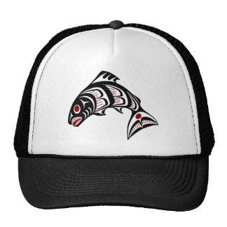 Northwest Pacific coast Haida art salmon Trucker Hat