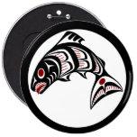 Northwest Pacific coast Haida art Salmon Pins