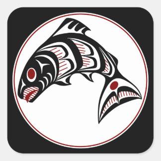 Northwest Pacific coast Haida art Salmon Sticker