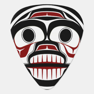 Northwest Pacific coast Haida Weeping skull Guitar Pick