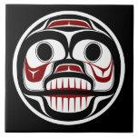 Northwest Pacific coast Haida Weeping skull Large Square Tile