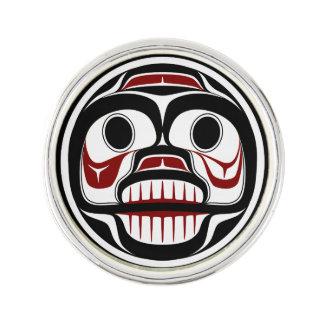 Northwest Pacific coast Haida Weeping skull Pin