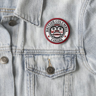 Northwest Pacific coast Haida Weeping skull Pinback Button