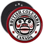 Northwest Pacific coast Haida Weeping skull Pinback Button