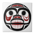 Northwest Pacific coast Haida Weeping skull Tile