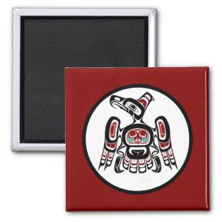 Northwest Pacific coast Kaigani Thunderbird 2 Inch Square Magnet