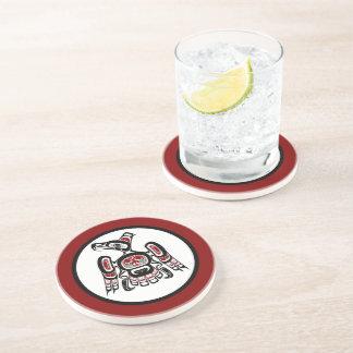 Northwest Pacific coast Kaigani Thunderbird Drink Coaster