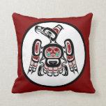 Northwest Pacific coast Kaigani Thunderbird Throw Pillows