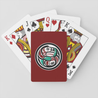 Northwest Pacific coast Otter chasing Salmon Playing Cards