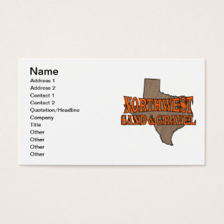 NorthWest Sand & Gravel Business Card Template