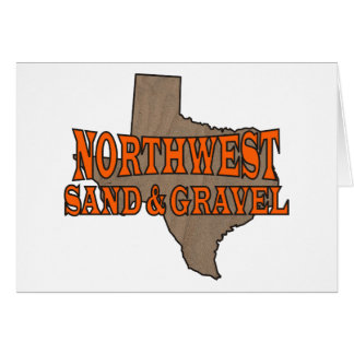 NorthWest Sand & Gravel: Formal Logo Greeting Card