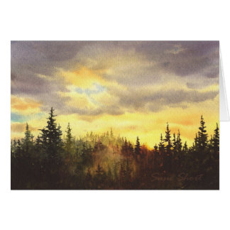 Northwest Sunset I Card