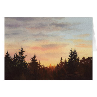 Northwest Sunset II Card