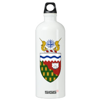 Northwest Territories (Canada) Coat of Arms Aluminum Water Bottle