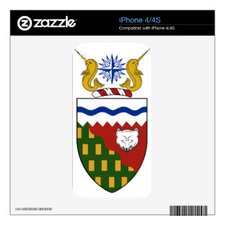 Northwest Territories Canada Coat of Arms Skins For iPhone 4S