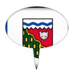 Northwest Territories (Canada) Flag Cake Toppers