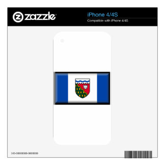 Northwest Territories (Canada) Flag Decal For iPhone 4S