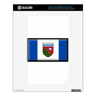 Northwest Territories Canada Flag Skin For The NOOK Color