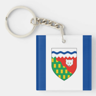 NORTHWEST TERRITORIES Flag Double-Sided Square Acrylic Keychain