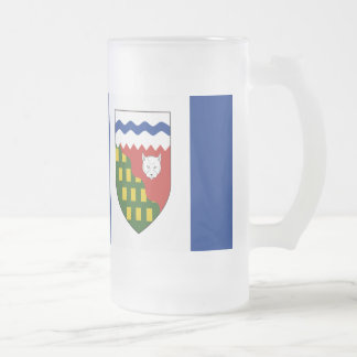 Northwest Territories Flag Frosted Glass Beer Mug
