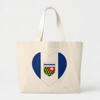 Northwest Territories Flag Heart Tote Bag