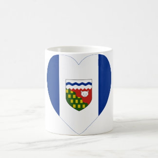 Northwest Territories Flag Heart Coffee Mug