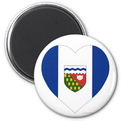 Northwest Territories Flag Heart Fridge Magnets