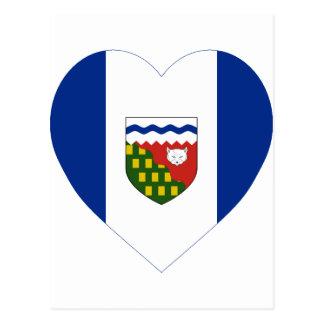 Northwest Territories Flag Heart Postcard