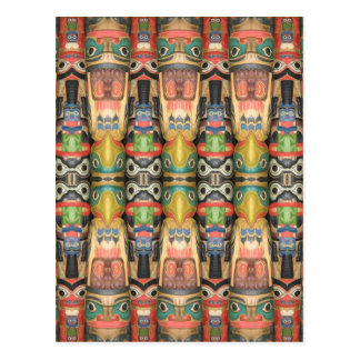 Northwest Totem Art Postcard