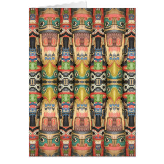 Northwest Totem Kaleidoscope Card