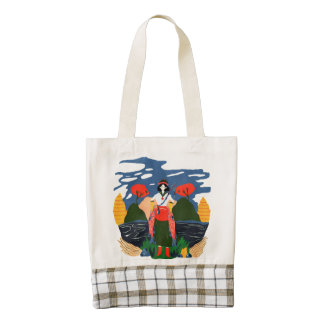 northwestern mysterious fisher lady zazzle HEART tote bag