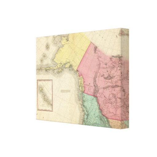Northwestern North America Stretched Canvas Print