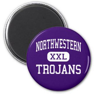 Northwestern - Trojans - High - Rock Hill Fridge Magnet